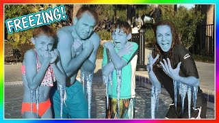 POLAR BEAR PLUNGE CHALLENGE | We Are The Davises
