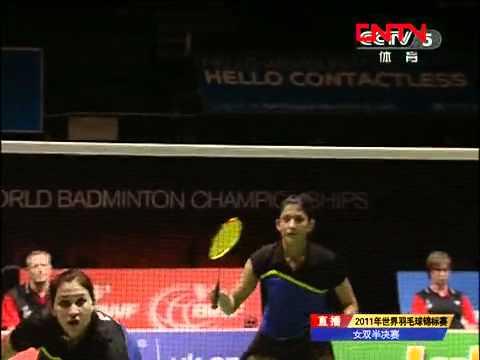 [2011 World Championships BXD-F] Tian Qing/Zhao Yun Lei vs Jwala Gutta/Ashwini Ponnappa [8]