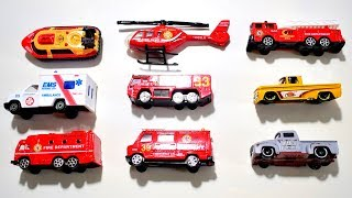 STREET VEHICLES FOR KIDS - Learn Names and Sounds of Fire Truck, Ambulance, Police Car