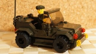 Как сделать из лего машину военную