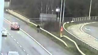 Cyclist's Sat Nav Leads Him onto Motorway