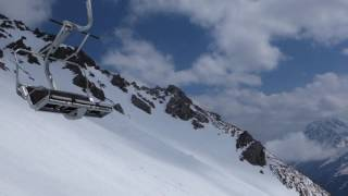 Schindlergrat chair lift at Arlberg tirol austria/ التزلج في سانكت أنتون تيرول النمسا
