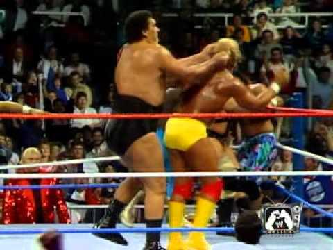 Wrestlemania 3 Hulk Hogan vs Andre the giant