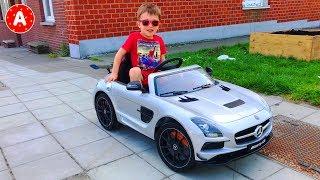 Super-Héros Spiderman Dans La Vie Réelle Conduit Voiture Electrique Mercedes AMG Jouets pour Enfants