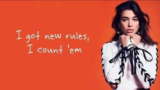Dua Lipa - New Rules / Lyrics