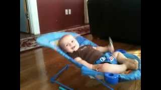 Baby shows off unbelievable strength and energy!