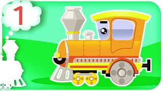 Learn Numbers With Train For Toddlers, Children - Learn Colours For Kids With Train