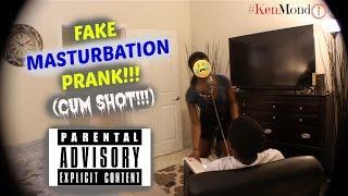 FAKE MASTURBATION PRANK!! (CUM SHOT!!!)