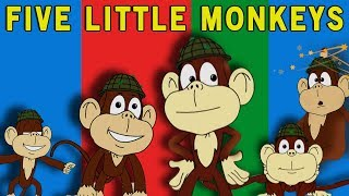 Five Little Monkeys Jumping on the Bed (HD) | Kids Songs | Nursery Rhymes For Children