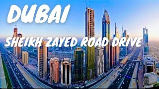 Sheikh Zayed Road Amazing Dubai City Jumeirah Drive *HD*