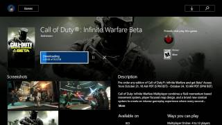 HOW TO DOWNLOAD INFINITE WARFARE BETA (XBOX ONE)