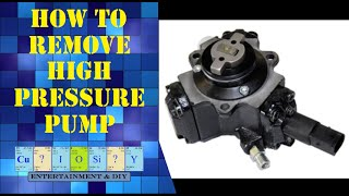 How to remove Diesel High pressure pump