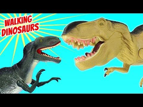 Dinosaur Walking Velociraptor Tyrannosaurus Rex Dinosaurs Toy Collection For Kids