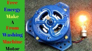 Free Energy _ Motor Converted To a Generator(Alternator) From Washing Machine Motor