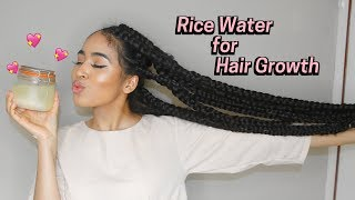 How to Make Rice Water Super Hair Growth Treatment! 2 ways   Lana Summer