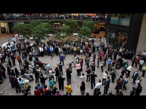 Beethoven Flash Mob Wayzata Symphony Orchestra and Edina Chorale Minneapolis Nov 16 2015