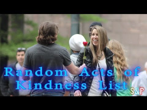 Random Acts of Kindness List