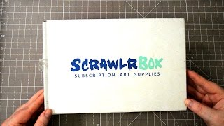 Unboxing Scrawlrbox March 2017 - Art Subscription Box