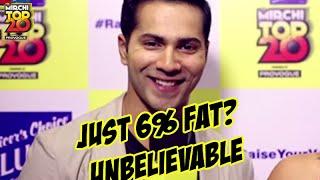 Revealed - Varun Dhawan has 6% body fat | #MT20Jubilee | Radio Mirchi