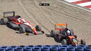 ADAC Formula 4 Championship 2017. Race 3 Motorsport Arena Oschersleben. Start & Leaders Off