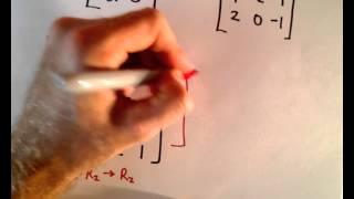 Inverse Matrix Using Gauss-Jordan / Row Reduction , Example 1