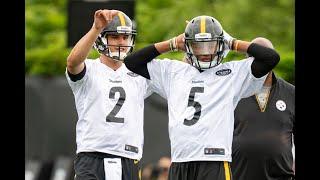 Steelers quarterbacks throw passes at OTAs