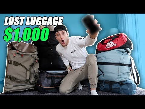I Bought 1000 Lost Luggage at a Storage Unit Auction and Found This… Buying Lost Luggage Auction