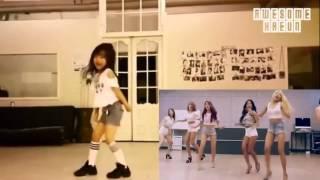 Niña con buen ritmo bailando muy bien