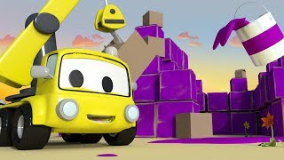 Build a FORT with the Baby Cars in Car City ! - Cartoon for kids The Fort Construction