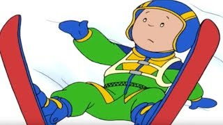 Funny Animated cartoon | CAILLOU GOES SKIING | Cartoons for Children Full Episodes - HOUR LONG