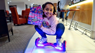 HOVERBOARD CHALLENGE! Topkins! Shopkins! NEW Season 7 Shopkins Surprise Toy Opening - Toys AndMe