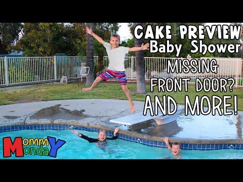 Shopping Swimming Baby Shower Sneak Peak & New Front Door Mommy Monday