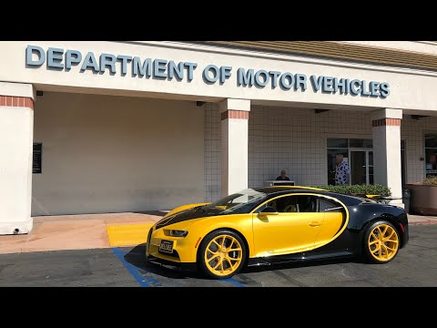 17 Year Old takes DMV Driver s Test in Bugatti Chiron