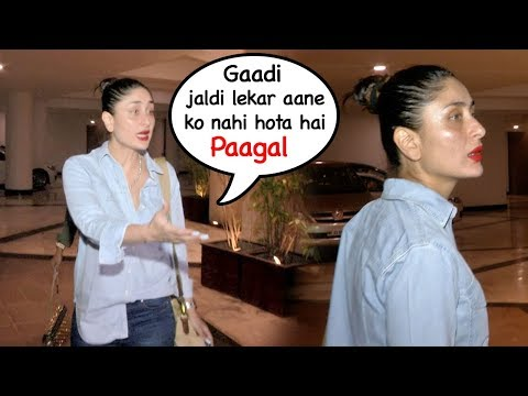DRUNK Kareena Kapoor SHOUTS On Her Driver For Making Her Wait After Manish Malhotra s Party