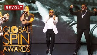 Diddy, Jermaine Dupri, Snoop Dogg, and Ludacris perform