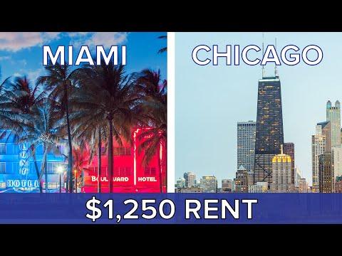1 250 Rent Miami Vs. Chicago