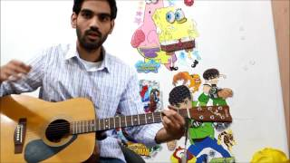 Just Down Strokes - Play Any Song On Guitar - No Strumming Required hindi lesson Bollywood