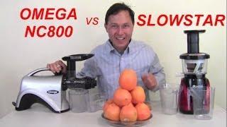 Omega NC800 vs Slowstar Juicer Comparison Review: Orange Juice