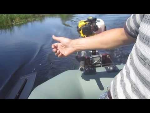 лодочные моторы на базе триммера видео