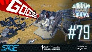 Space Engineers, Pirate Base Teardown, Time Lapse (Singular Survival, Ep 79)