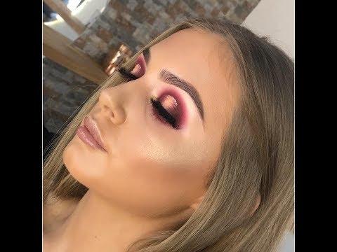 Spotlight Glam Makeup Tutorial   Hope Phillips MUA  Huda Beauty desert dusk palette