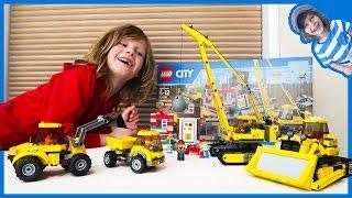 Construction Truck Videos | Lego Time Lapse Build City Construction Site