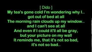 Eminem ft Dido - Stan [HQ Lyrics]