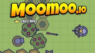 MooMoo.io - Awesome Turret Base Defense! - Turret Update! - Let