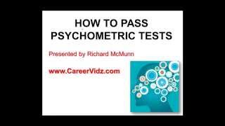 How To Pass Psychometric Tests