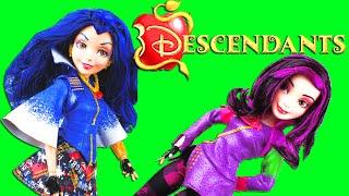Disney Descendants Movie New Dolls! Frozen Elsa & Anna with daughters of Maleficent & Evil Queen