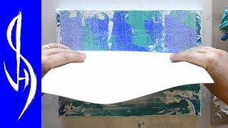 Abstract Painting with Acrylics - Smearing and Scraping Paint