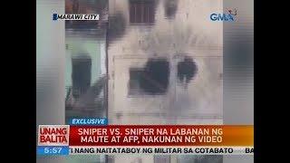 UB: Sniper vs. sniper na labanan ng Maute at AFP, nakunan ng video