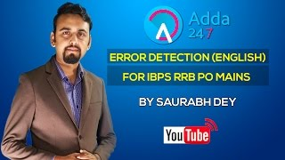 Error Detection (English) for IBPS RRB PO Mains