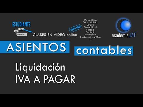 Liquidación de IVA que sale a pagar - HP acreedora por IVA - CONTABILIDAD